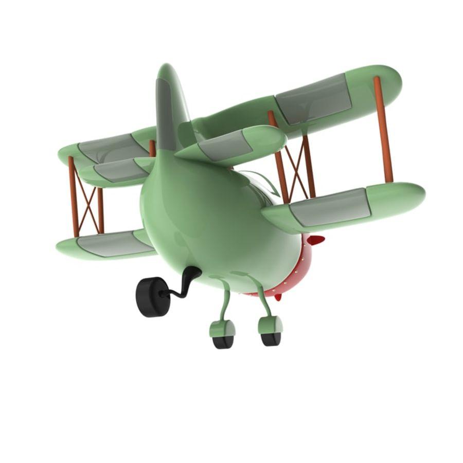 Samolot kreskówki royalty-free 3d model - Preview no. 12