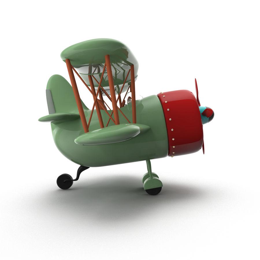 Samolot kreskówki royalty-free 3d model - Preview no. 8