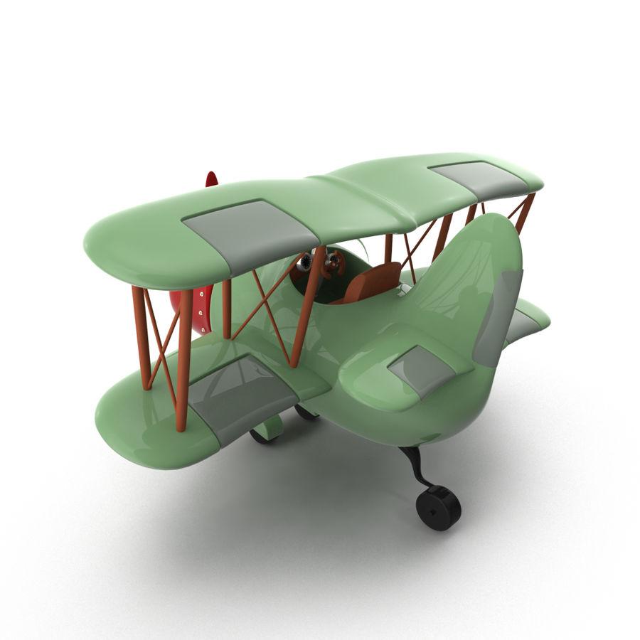Samolot kreskówki royalty-free 3d model - Preview no. 7