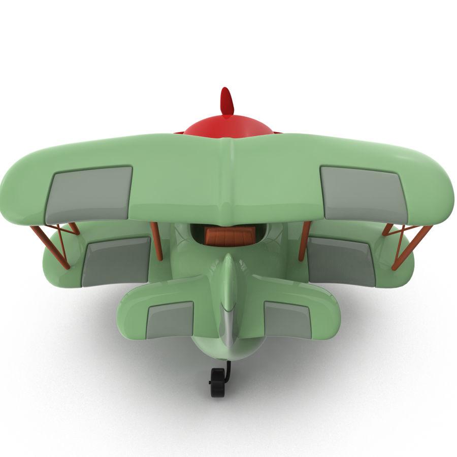 Samolot kreskówki royalty-free 3d model - Preview no. 5