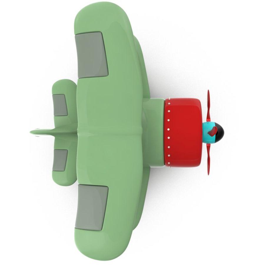 Samolot kreskówki royalty-free 3d model - Preview no. 2