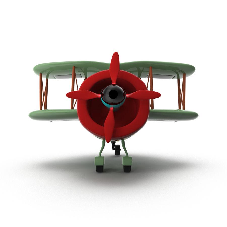 Samolot kreskówki royalty-free 3d model - Preview no. 9