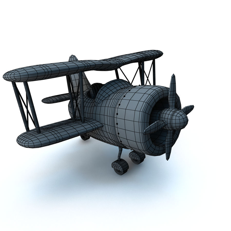 Samolot kreskówki royalty-free 3d model - Preview no. 15