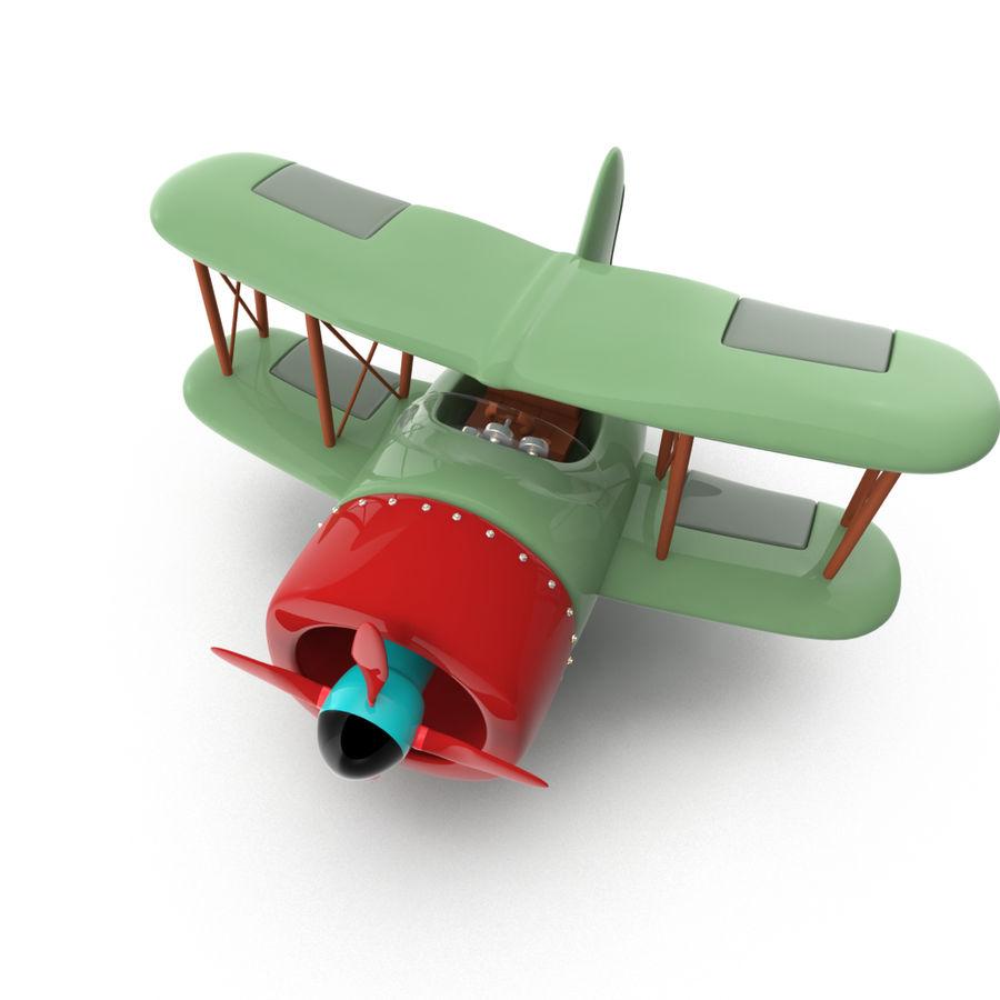 Samolot kreskówki royalty-free 3d model - Preview no. 4