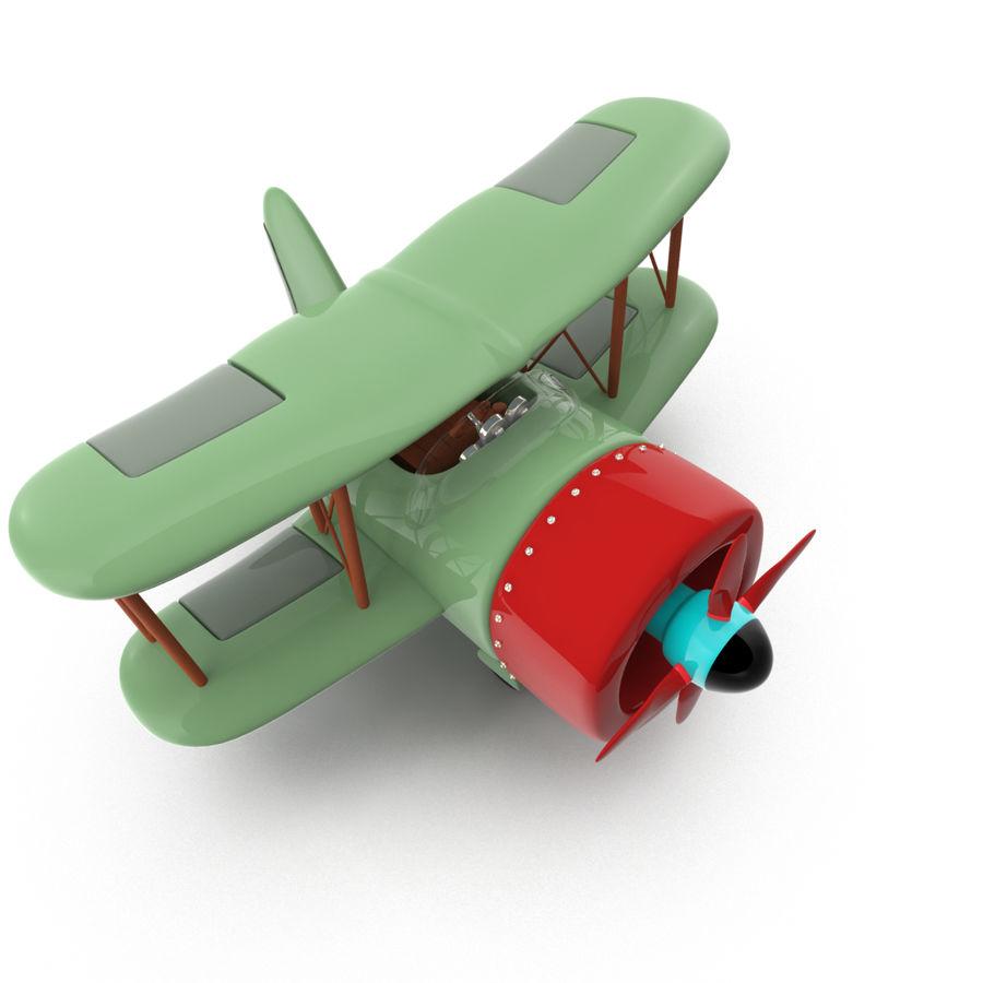 Samolot kreskówki royalty-free 3d model - Preview no. 3