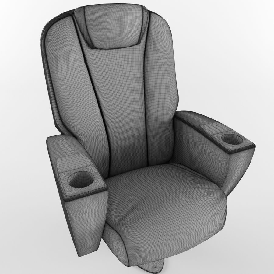 Cinema Chair royalty-free 3d model - Preview no. 10