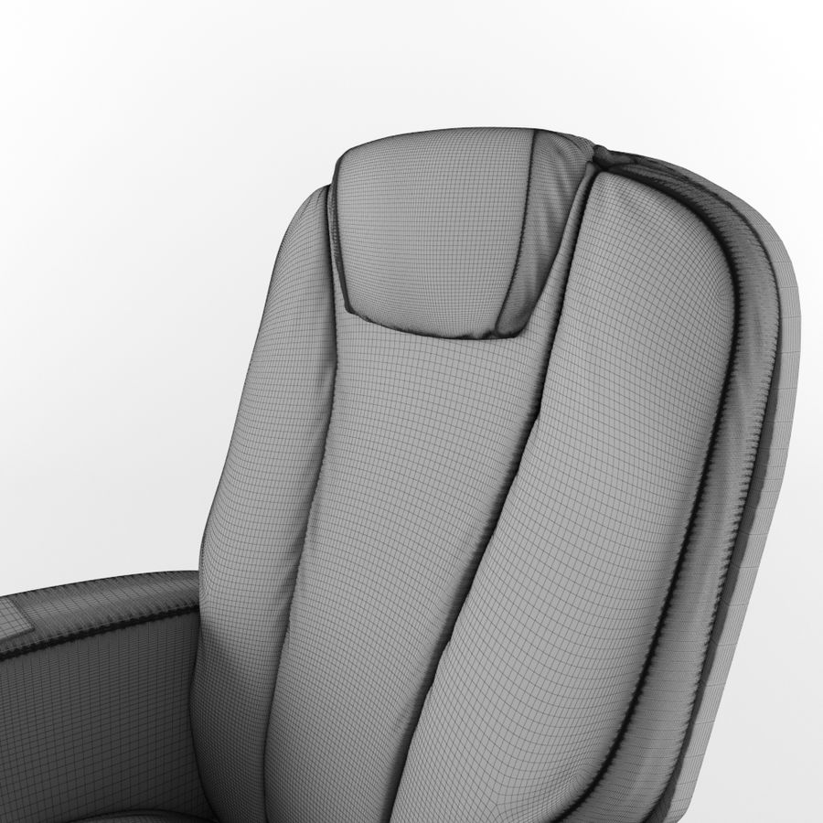 Cinema Chair royalty-free 3d model - Preview no. 13