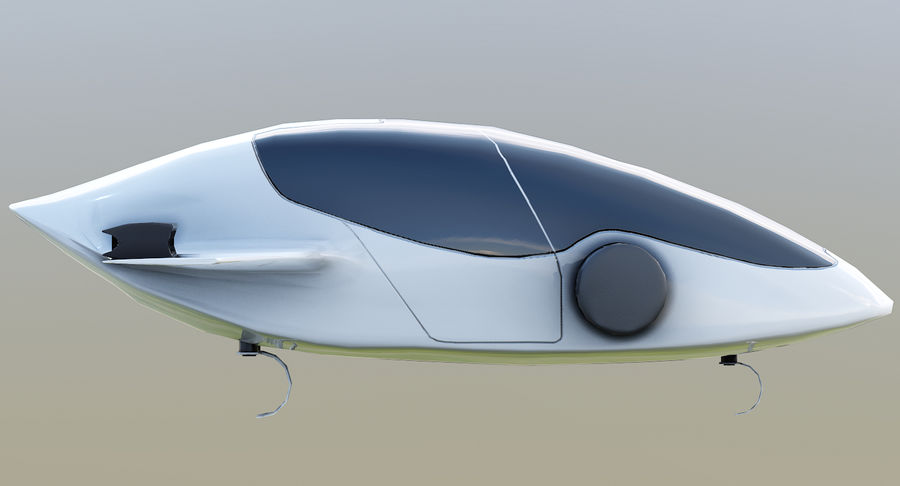 Lilium Jet Flying Car Concept royalty-free 3d model - Preview no. 9