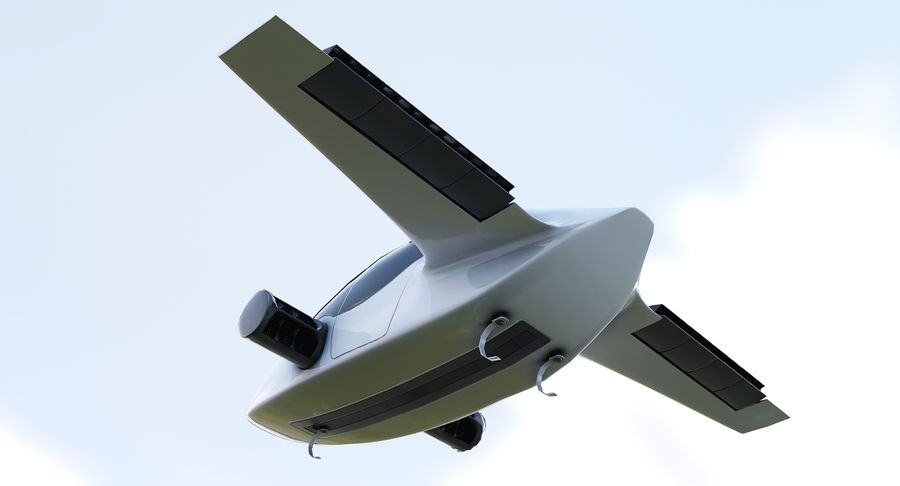 Lilium Jet Flying Car Concept royalty-free 3d model - Preview no. 6