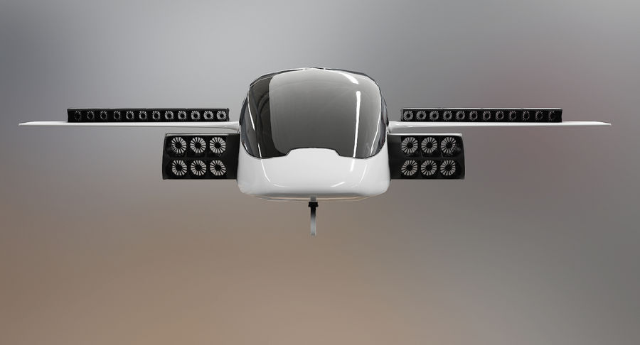 Lilium Jet Flying Car Concept royalty-free 3d model - Preview no. 5