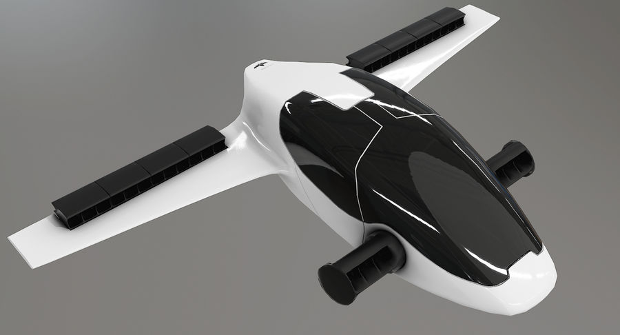 Lilium Jet Flying Car Concept royalty-free 3d model - Preview no. 3