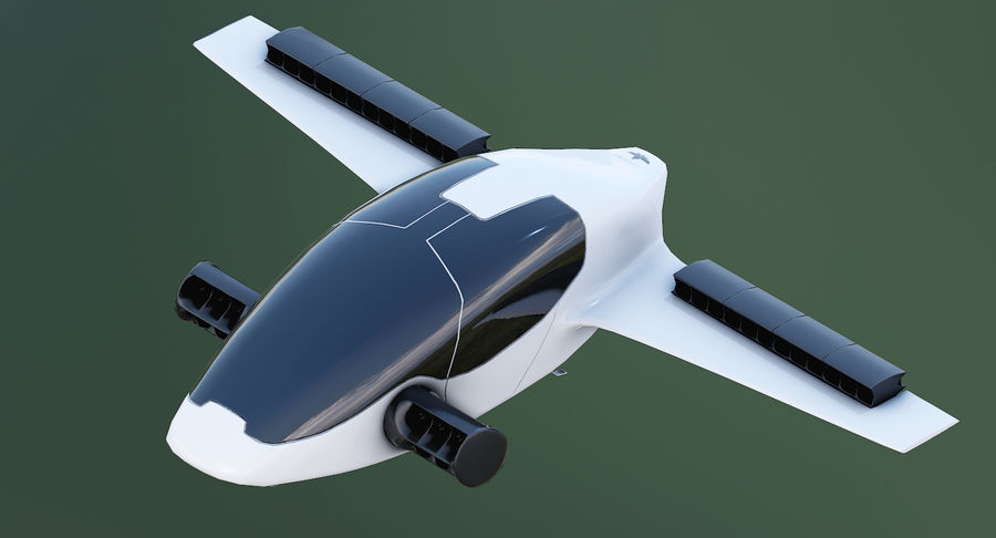 Lilium Jet Flying Car Concept royalty-free 3d model - Preview no. 8