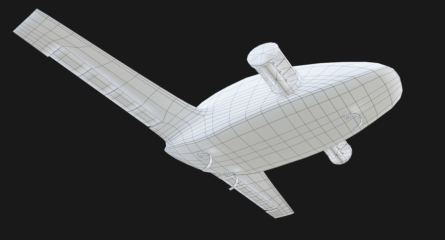 Lilium Jet Flying Car Concept royalty-free 3d model - Preview no. 11