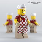 Lego Hot Dog Vendor 3d model