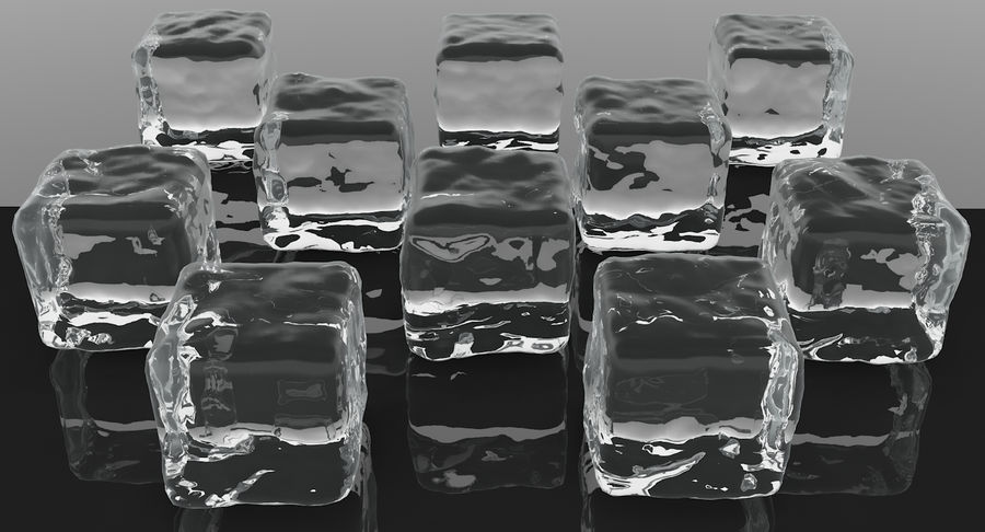 Smooth Ice Cubes royalty-free 3d model - Preview no. 3