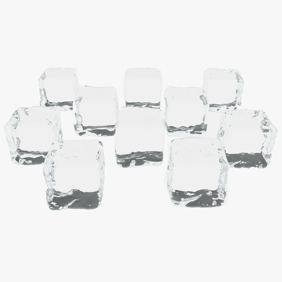 Smooth Ice Cubes royalty-free 3d model - Preview no. 1