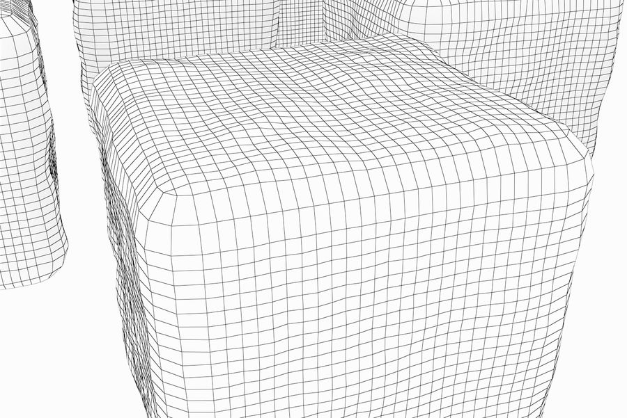 Smooth Ice Cubes royalty-free 3d model - Preview no. 12