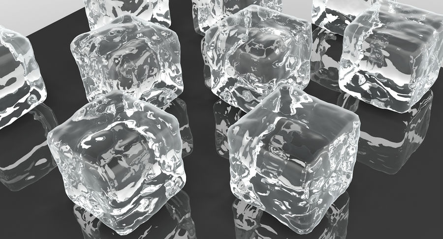 Smooth Ice Cubes royalty-free 3d model - Preview no. 7