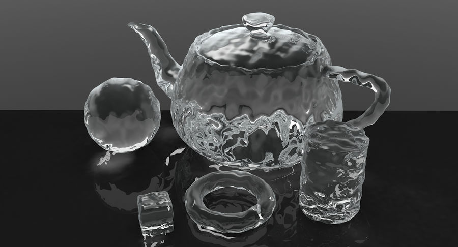 Smooth Ice Cubes royalty-free 3d model - Preview no. 11