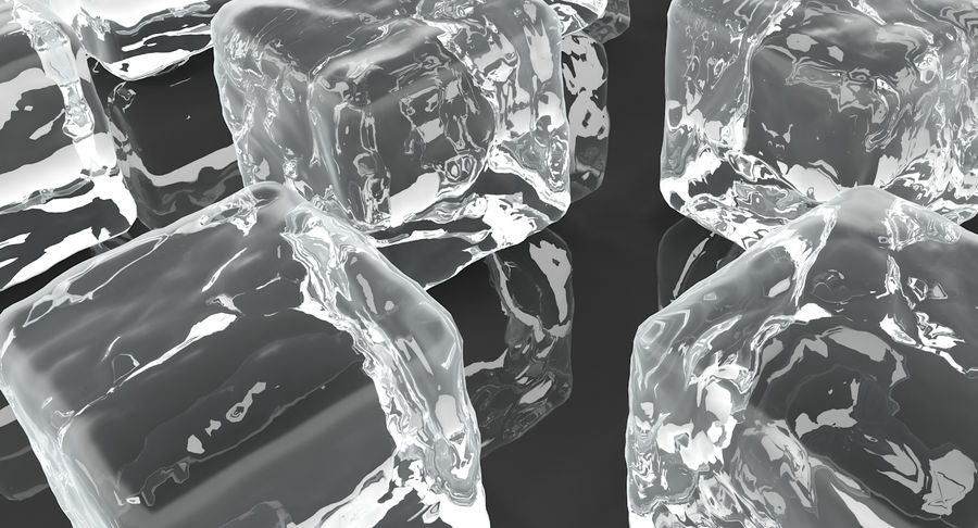 Smooth Ice Cubes royalty-free 3d model - Preview no. 6