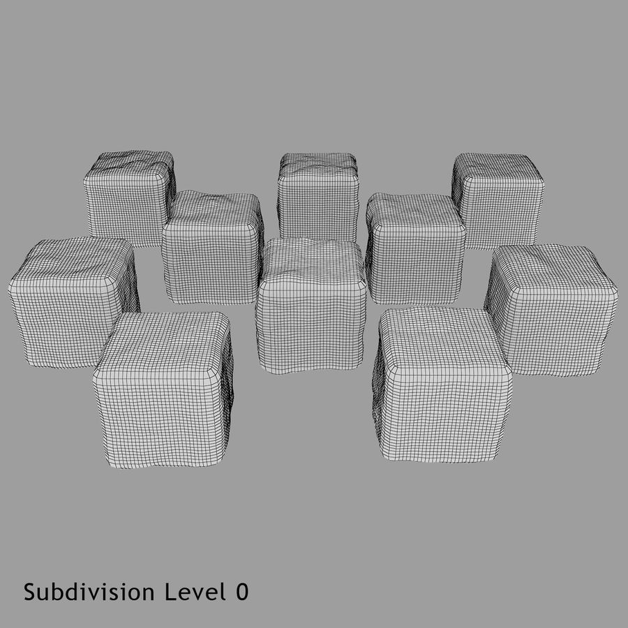 Smooth Ice Cubes royalty-free 3d model - Preview no. 18