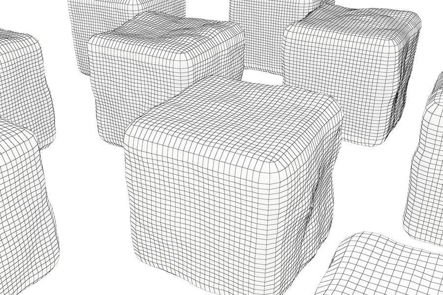 Smooth Ice Cubes royalty-free 3d model - Preview no. 16