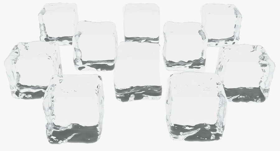 Smooth Ice Cubes royalty-free 3d model - Preview no. 2
