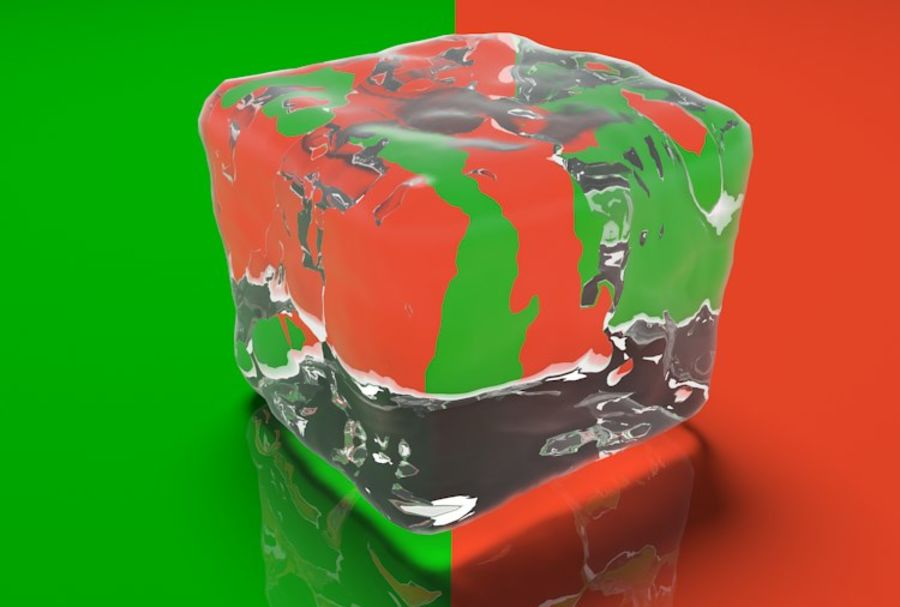Smooth Ice Cubes royalty-free 3d model - Preview no. 10