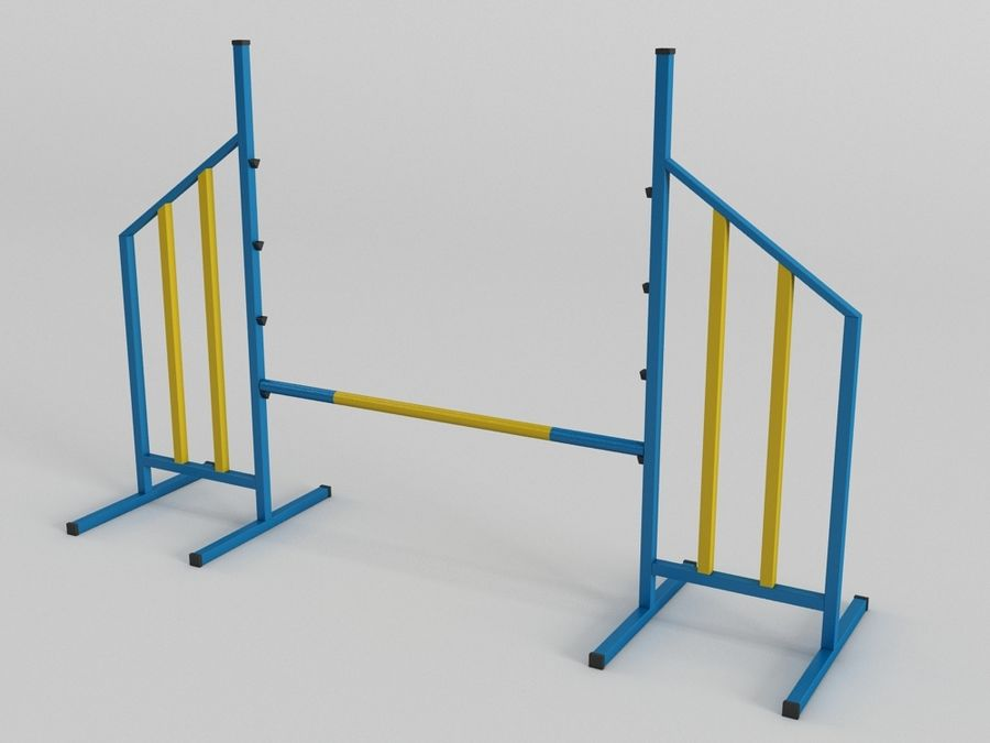 DOG AGILITY COLECTION royalty-free 3d model - Preview no. 3