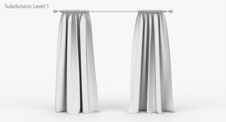Curtains royalty-free 3d model - Preview no. 9
