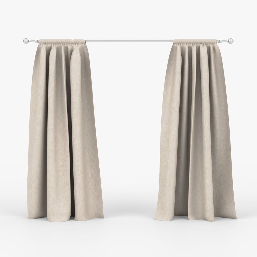 Curtains royalty-free 3d model - Preview no. 1