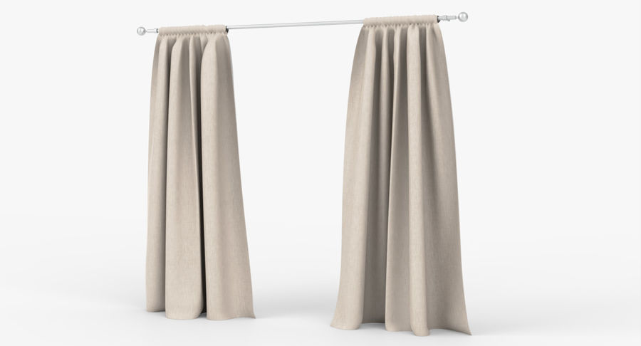 Curtains royalty-free 3d model - Preview no. 7