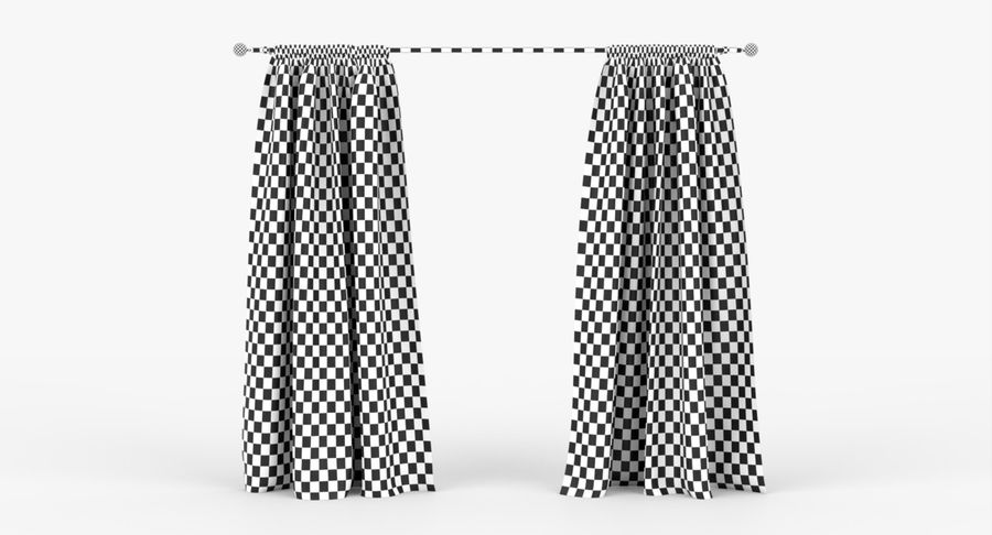Curtains royalty-free 3d model - Preview no. 10