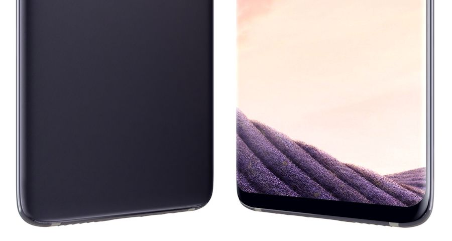 Samsung Galaxy S8 Orchid Grey royalty-free 3d model - Preview no. 14