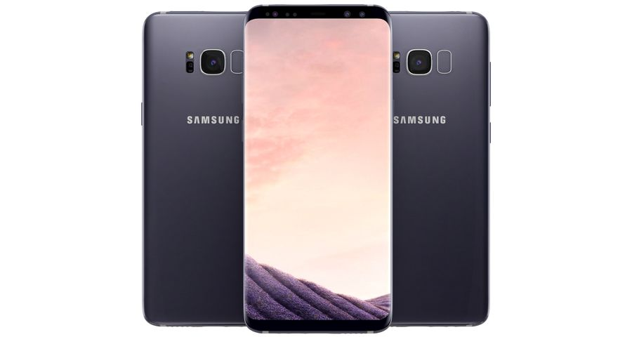 Samsung Galaxy S8 Orchid Grey royalty-free 3d model - Preview no. 5