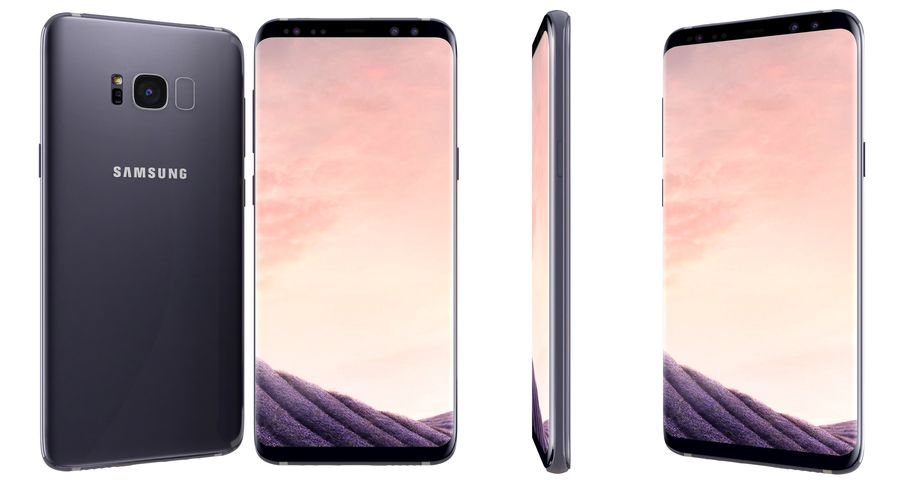 Samsung Galaxy S8 Orchid Grey royalty-free 3d model - Preview no. 4