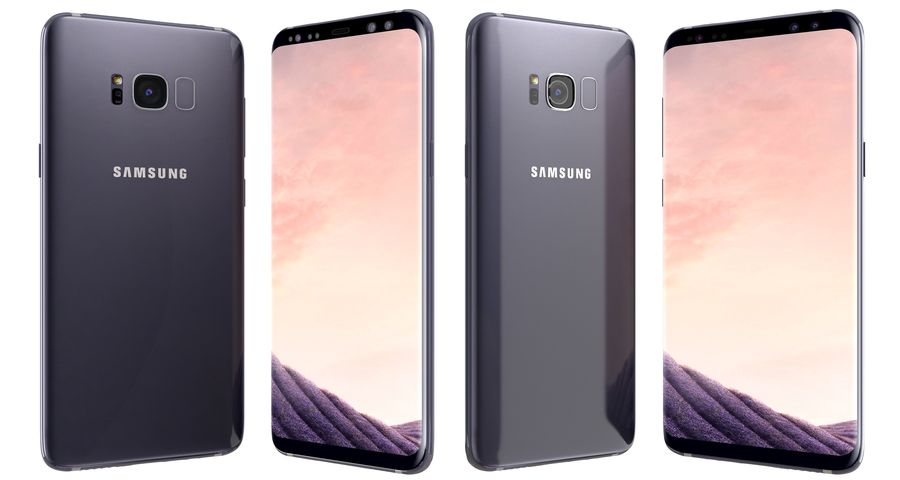 Samsung Galaxy S8 Orchid Grey royalty-free 3d model - Preview no. 2