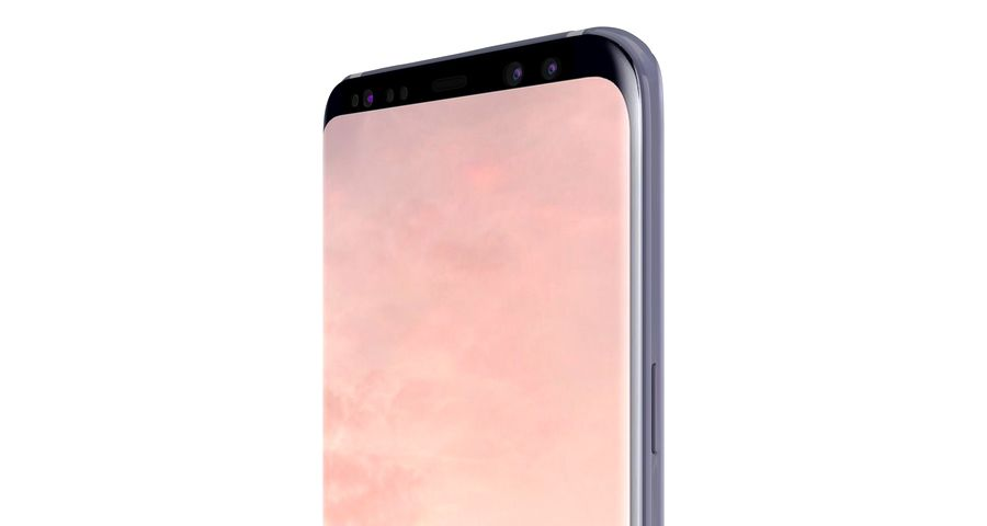 Samsung Galaxy S8 Orchid Grey royalty-free 3d model - Preview no. 16