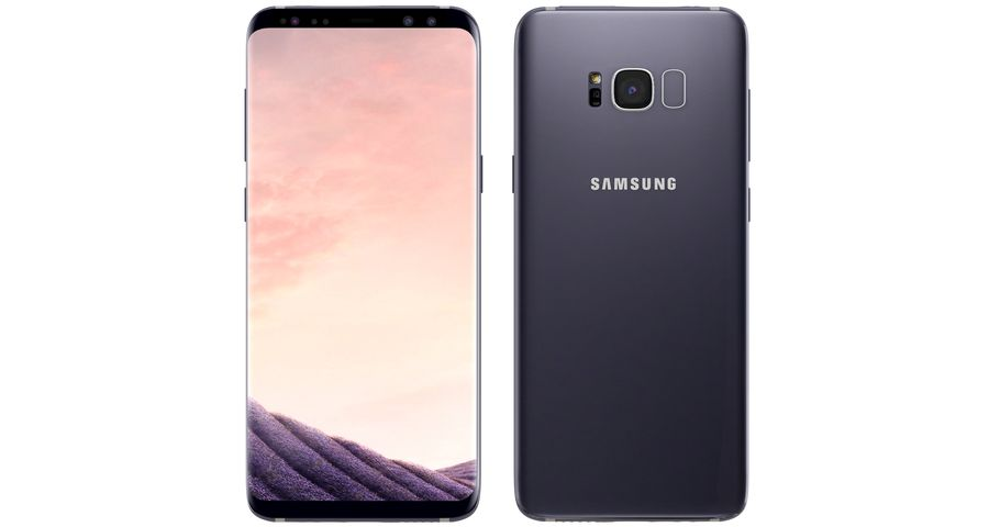 Samsung Galaxy S8 Orchid Grey royalty-free 3d model - Preview no. 6