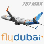 Boeing 737 MAX Flydubai 3d model