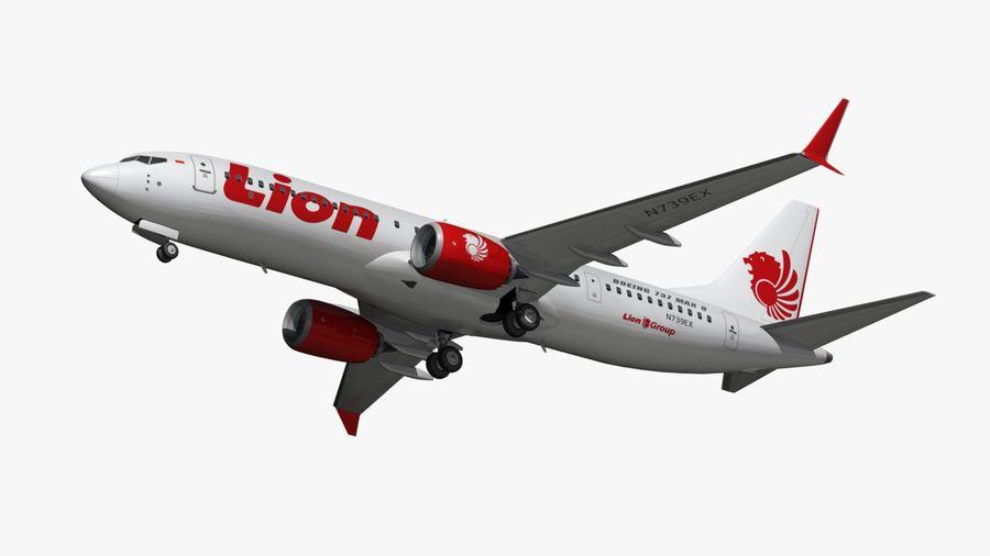 Boeing 737 MAX Lion Air 3D Model $47 -  max  obj  fbx  blend - Free3D