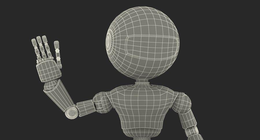 White Robot royalty-free 3d model - Preview no. 19