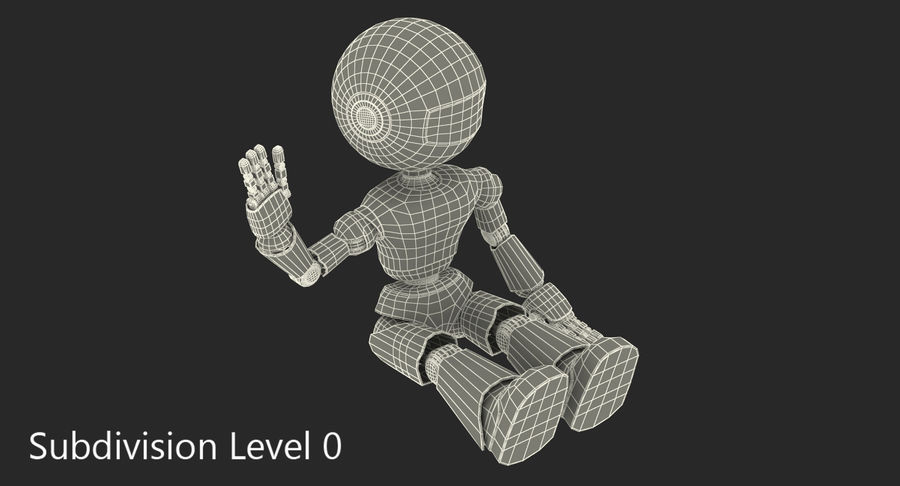 White Robot royalty-free 3d model - Preview no. 9