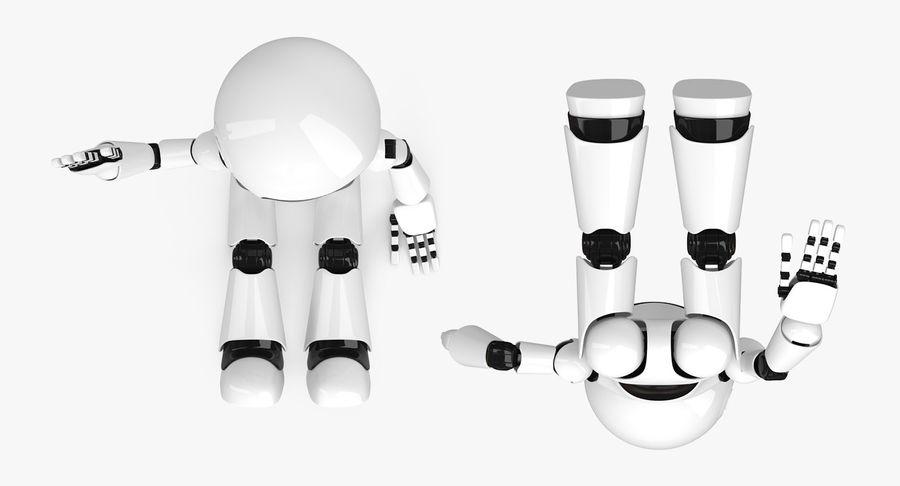 White Robot royalty-free 3d model - Preview no. 7