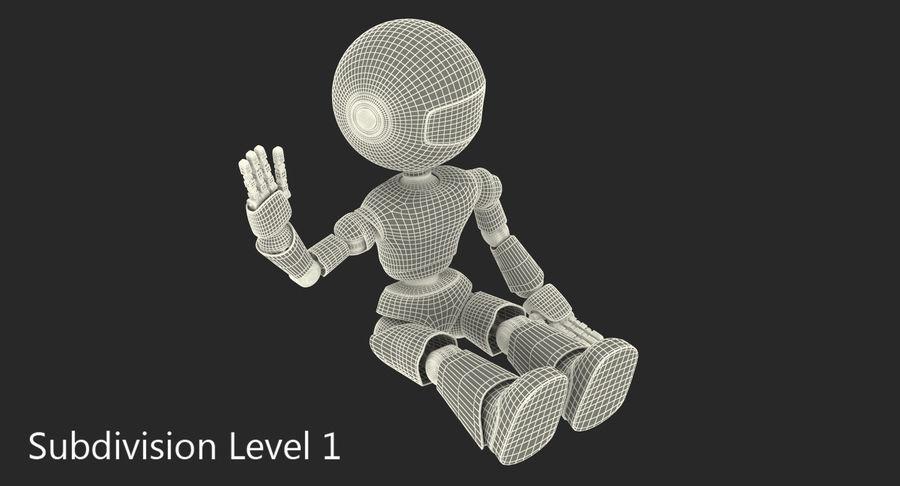 White Robot royalty-free 3d model - Preview no. 10