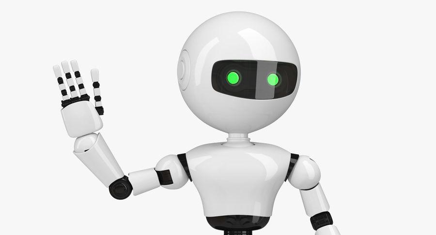 White Robot royalty-free 3d model - Preview no. 8