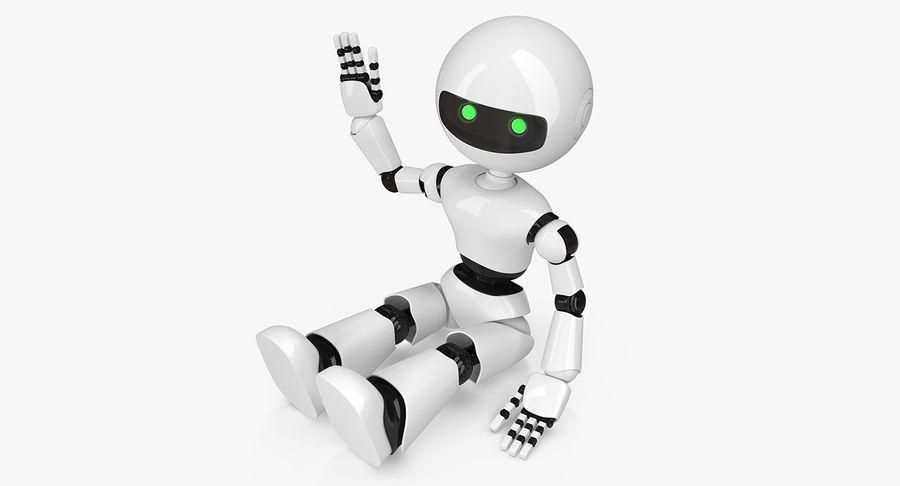 White Robot royalty-free 3d model - Preview no. 2