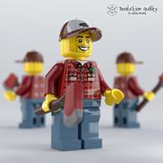 레고 벌목꾼 그림 3d model