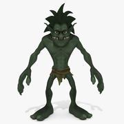 Cartoon Troll Green 3d model