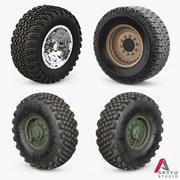 Wheels Military Set 3d model